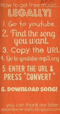 How to download music from youtube: this works. There was a live performance of a particular song I really wanted. It was better than the studio mp3. So I found the performance on youtube and followed these tips, using mediaconverter.org and converted it to an mp3. It worked.: