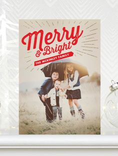 Card design: Merry Bright |  #ChristmasCards