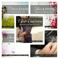 A selection of our beautiful wedding websites for couples. All our websites include an online RSVP for guests!