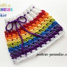 Free Crochet Pattern -X Stitch, Sparkle & Sprinkles Skirt