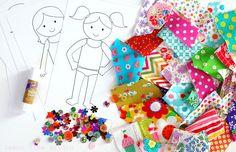Dress me Up a Fun Paper & Fabric Doll Craft by LemonTreeStudio
