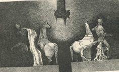 Edo Janich -  ...gli ulivi saraceni lo colpivano con le loro scultoree, naturali contorsioni scultoree, le chiese barocche e tanto altro ancora di una natura prorompente e contemporaneamente dolce e romantica, ...  Claudio Alessandri