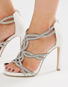 New Look | New Look Bridal Embellished Heeled Sandal at ASOS