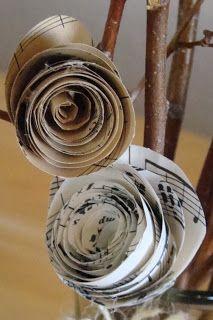 "Tutorial for a paper flower ""tree"" arrangement"