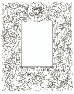 Cynthia Emerlye, Vermont artist and kirigami papercutter: Flower Border - Line Drawing - applique border or wholecloth quilting