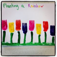 Planting a rainbow- with forks
