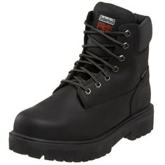 "Timberland PRO Men's Direct Attach 6"" Steel Toe Boot Timberland. $103.99. leather. Man-made Safety Boots. Rubber sole"