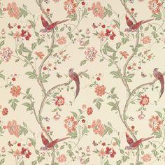 Summer Palace Cranberry Wallpaper at Laura Ashley