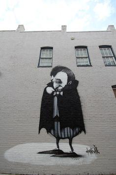halloween street art graffiti vampir dracula stormie mills