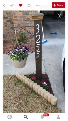 15 Creative House Number Ideas to Improve Curb Appeal - Make your own front yard house number ideas with these easy ideas! DIY address plaques are easy projects you can do in an afternoon. Lawn And Garden, Home And Garden, Garden Art, Outdoor Projects, Outdoor Decor, Easy Projects, Html Projects, Outdoor Lighting, Front Yard Landscaping