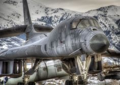B-1b Lancer Bomber  North Wasatch Mountains