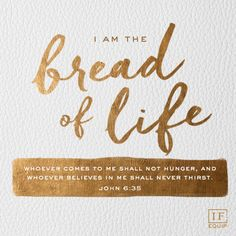 """""""And Jesus said to them, """"I am the bread of life. He who comes to Me shall never hunger, and he who believes in Me shall never thirst. Bible Verses Quotes, Encouragement Quotes, Bible Scriptures, Wisdom Quotes, John 6 35, Beatitudes, After Life, Lord And Savior, Word Of God"""