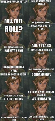 zelda logic. hahahahahahah! Yeah, this is why I'm crazy...and you probably don't get this...unless you've played it so much...you're as crazy as I am...sorry. :)