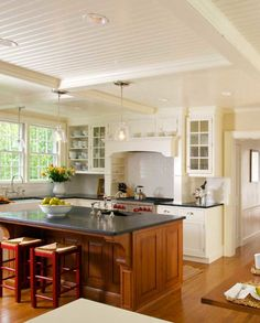 New Classic Kitchen in a Cape Cod Federal | Restoration & Design for the Vintage House | Old House Online