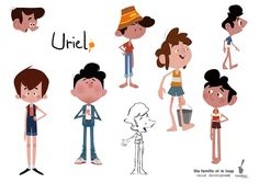 "Flooby Nooby: Visual Development from the animated feature ""My Family and the … – Character Design Character Model Sheet, Kid Character, Character Modeling, Character Concept, Concept Art, Character Types, Character Design Animation, Character Design References, Visual Development"