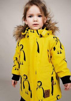 Mini Rodini Toppatakki Expedition Siberia Yellow penguin