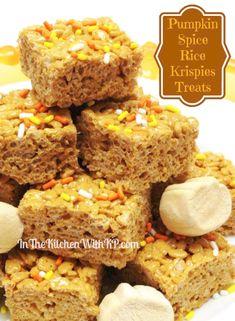 Pumpkin Spice Rice Krispies Treats #EatAllThePumpkin - In The Kitchen With KP
