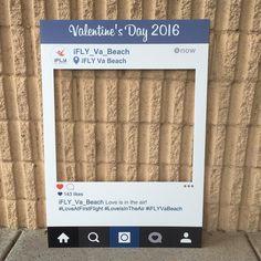 @ifly_va_beach had us create an awesome cutout for Valentine's Day!  #valentines #marketingideas #partyplanning #marketing #creativemarketing
