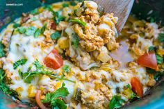 One Pot Cheesy Taco Skillet - Mexican Taco Skillet Low Carb Tacos. Love this with the spinach and zucchini! Slow Cooker Recipes, Beef Recipes, Mexican Food Recipes, Chicken Recipes, Dinner Recipes, Cooking Recipes, Healthy Recipes, Ketogenic Recipes, Mexican Dishes