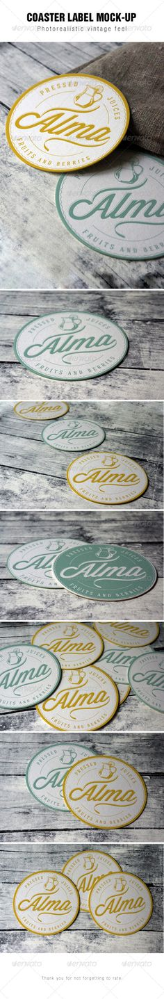Round Label Mockup #label #mockup Download: http://graphicriver.net/item/round-label-mockup/8004457?ref=ksioks
