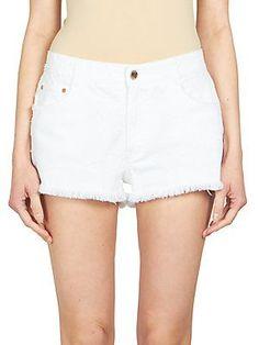 Stella McCartney Star-Print Denim Cut-Off Shorts