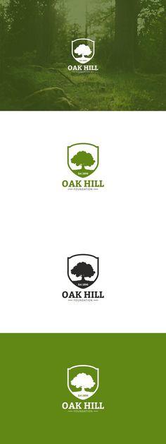 Vintage Oak Tree Logo. Premium Icons
