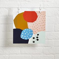 Abstract Wall Art  | The Land of Nod - this could included in the artwork above the bed.