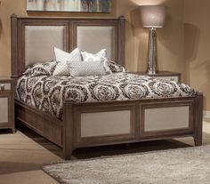 Biscayne West Haze Upholstered Panel Bed by AICO