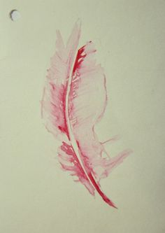 Feather  Watercolor on paper