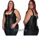 Leather Corset Steel Boned Waist Shaping Overbust Any Size Custom Corsets Plus on eBay for £70