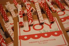 Clothes Pin Magnets - and some other cool crafts on this site.