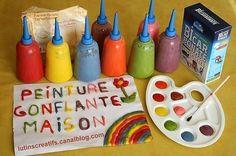 La peinture gonflante ou peinture en relief est une activité créative et ludique à proposer aux enfants qui vont adorer faire de beaux dessins qui gonfleront comme par magie une fois passés au four. Vous allez voir qu'il est très facile de faire soi même...