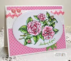 ChristineCreations: Pretty Pink Camellias