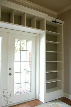 IKEA bookshelves to built ins – love how they trimmed out the bottom of the boockcases really wide to make them appear custom. IKEA bookshelves to built ins – love how they trimmed out the bottom of the boockcases really wide to make them appear custom. Billy Ikea Hack, Ikea Billy Bookcase Hack, Billy Bookcases, Billy Bookcase With Doors, Bookcase Door, Bookshelf Design, Bookshelves Built In, Bookshelf Decorating, Bookshelf Ideas
