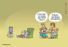 ¿Por qué lo dejas ver tanta tele? - Erlich