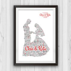 "This ""at the ater print"" gift is a cute gift for any couple to receive on their wedding day. This comes with the couples name and the date they got married. Wedding Gifts Online, Unique Wedding Gifts, Personalized Wedding Gifts, Family Love, Alters, Engagement Couple, Marry Me, Cute Gifts, Vows"