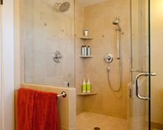 Decorating, Awesome Yelllow Craftsman Bathroom With Corner Shower Doors Glass And Stainless Shower Heads Also Ceiling Lighting Decor ~ Corner Shower Doors Glass Ideas for You Diy Design, Bath Design, Design Ideas, Design Inspiration, Interior Design, Tub Shower Combo, Shower Tub, Master Shower, Shower Heads