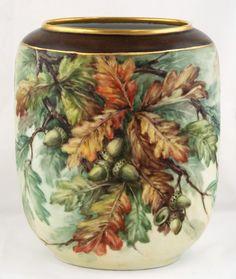 Hand painted Heinrich Porcelain Vase by China painter Margaret Surber
