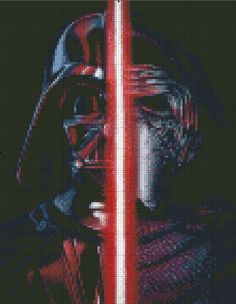 Star Wars Kylo Ren and Darth Vader Cross Stitch by StitchandaSong