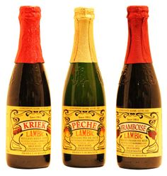 I love this! Lambic is beer fermented with fruits. I've had the peach and the raspberry. I have yet to try the cherry and the apple.