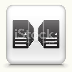 Square Button with Server royalty free vector art royalty-free stock vector art
