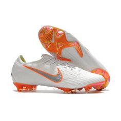 Design Nike Womens Mercurial Vapor XII Elite FG Football Boots - White/Metallic Cool Grey/Total Orange are on hot sale. We sell many cheap football boots with high quality. Cheap Football Boots, Football Shoes, Nike Soccer Shoes, Soccer Cleats, Nike World, Professional Soccer, Nike Vapor, Metallica, Orange