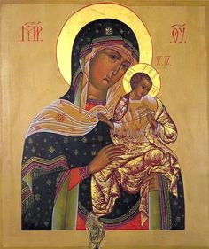 """The Virgin of Konevitsa or """"Our Lady of the Dove."""" The dove is illustrative mourners: Isaiah 38:14 ---Like a swallow, like a crane, so I twitter; I moan like a dove; My eyes look wistfully to the heights; O Lord, I am oppressed, be my security.---"""