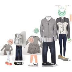 Stitch Fix Grey, mint and light pink outfit idea for family photos