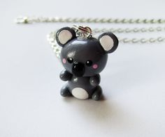 Cute Koala Polymer Clay Charm Necklace by MadAristocrat on Etsy, $14.00