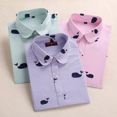 New Arrival Women Shirt Cotton Blouse Long Sleeve Plus Size Ladies Top Cute Pattern Character Turn-Down Collar Women Bluas 2016 * Check out this great product.