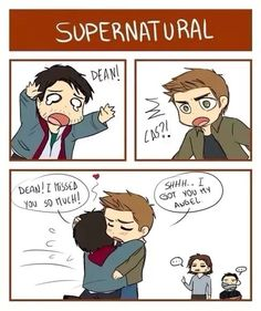 I got you my Angel..  Destiel Dean Winchester Castiel Sam Winchester