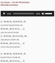 Oy Liman - Do Re Mi #doremi #melodika #flüt #notalar Do Re Mi