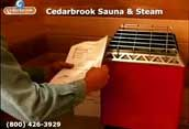 Follow your sauna heater manufacturers template for mounting your heater on the wall