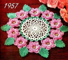 Rose Doily Crochet Pattern Vintage 723056, $3.99